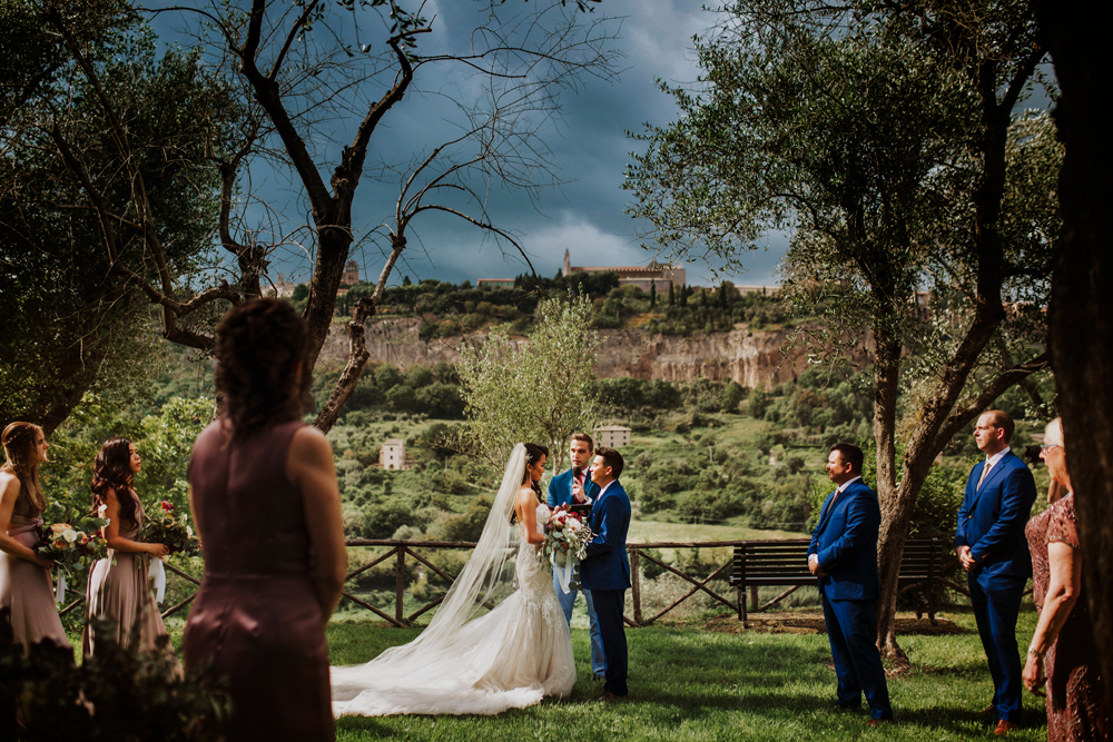 emotional wedding ceremony in umbria